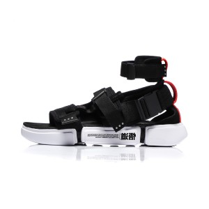 Paris Fashion Week Essence 2.0 PLATFORM Men's Light Sports Sandals - Black [AGBN079-2]