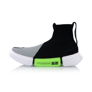 China Li-Ning 2019 Spring New Paris Fashion Week Essence II Men's Basketball Culture Shoes - Black/Grey/Green
