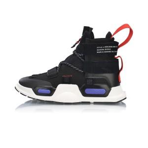 2019 Spring New New York Fashion Week X China Li-Ning Series Reburn High Tops Basketball Casual Shoes - Black/White