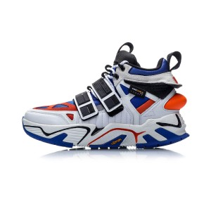 China Li-Ning New York Fashion Week Essence ACE+ Men's Basketball Casual Shoes - Blue/White/Orange