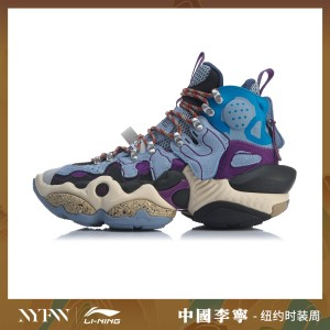 China Li-Ning 2019 New York Fashion Week Show Series - 2020 ACE Men's Basketball Casual Shoes - Blue/Purple
