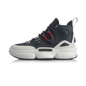 2020 Spring China Li-Ning Series Reburn 2.0 EZ-Fit Men's High Tops Basketball Casual Shoes - Black/White