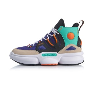 2020 Spring China Li-Ning Series Reburn 2.0 EZ-Fit Men's High Tops Basketball Casual Shoes - Purple/Black