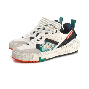 Li-Ning 001 Unblock 'The Legend Begins' Men's Classic Casual Shoes - White/Black/Green