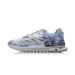 China Li-Ning 21SS Paris Fashion Week Show Men's Classic Casual Shoes - Blue