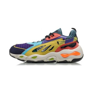"Paris Fashion Week Show ""Butterfly"" LITE LI-NING Men's Fashionable Casual Sneakers - Yellow/Purple/White"