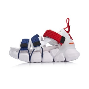 Paris Fashion Week MIX II PLATFORM China Li-Ning Women's Fashionable Casual Sneakers - White/Blue/Red