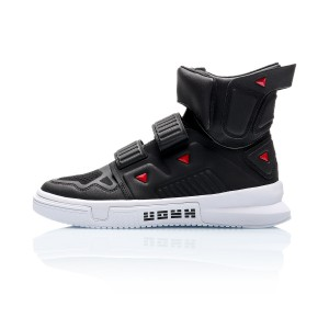 "Li-Ning 2019 Spring New Trace Series ""Cang Yi"" Men's High Tops Fashion sneakers - Black/White"