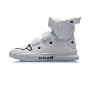 "Li-Ning 2019 Spring New Trace Series ""Cang Yi"" Men's High Tops Fashion sneakers - White"