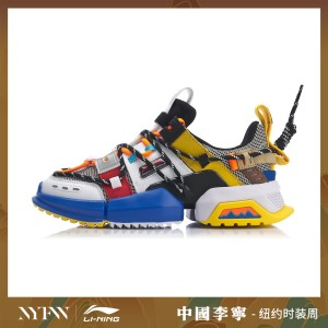 China Li-Ning 2019 New York Fashion Week UT ACE Men's Shoes Pangu - Black/White/Blue/Yellow