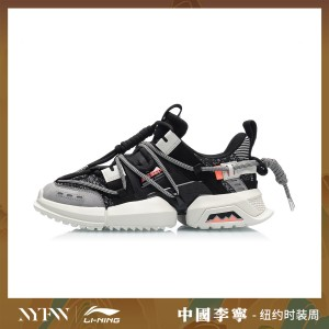 China Li-Ning 2019 New York Fashion Week UT ACE Men's Shoes Pangu - Black/White/Orange