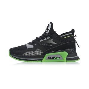 2019 Spring New Li-Ning x XLARGE 001 T1000 Men's Fashion Casual Shoes - Black/Green
