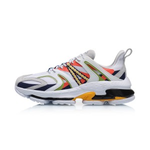 2019 Spring Li-Ning COUNTERFLOW ADAM Men's Fashion Casual Shoes - White/Yellow/Blue