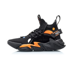 "Li-Ning 2019 COUNTERFLOW ""Cosmic Dust"" Men's Fashion Casual Shoes - Black/Orange"