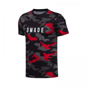 Li-Ning Men's Wade Basketball Jerseys T-Shirts 100% Cotton Breathable Sports Tops