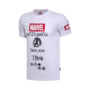 "2017 Li-Ning X Marvel Series ""Marvel's The Avengers"" Themed Men's Culture Tee Shirt - White"