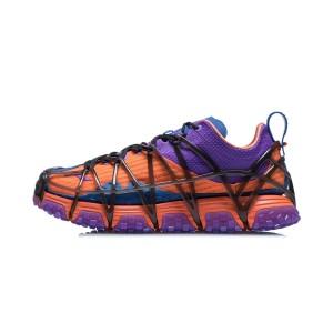 Li-Ning AW2021 Paris Fashion Week MIX ACE Men's Fashion Running Shoes - Orange/Purple
