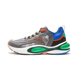 2019 New Li Ning V8 Men's Fashion Running Sneakers - Gray/Black/Green