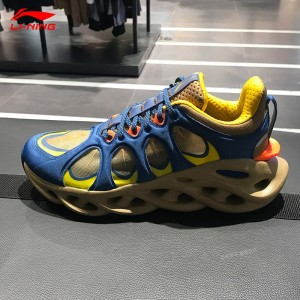 China Li-Ning 2019 New York Fashion Week Lining ARC ACE Men's Running Shoes - Blue/Yellow