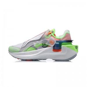 """Paris Fashion Week China Li-Ning FW2020 """"Rangers"""" 游侠 Women's Running Shoes - White/Green"""