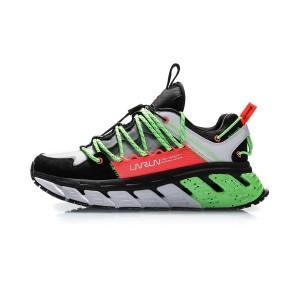 Li-Ning X DUN HUNAG Museum Men's Trendy Running Shoes - Black/White/Green