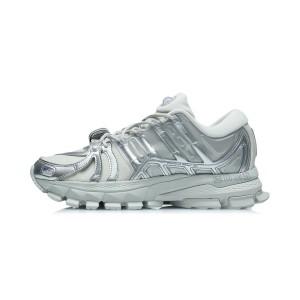 China Li-Ning 21AW Furious Rider ACE 1.5 Men's Cultural Running Shoes - Gray/Silver