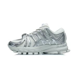 China Li-Ning 21AW Furious Rider ACE 1.5 Women's Cultural Running Shoes - Silver Gray