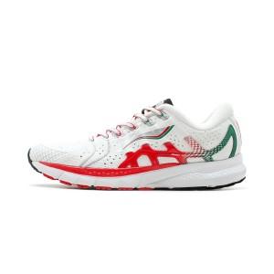 Paris Fashion Week China Li-Ning FURIOUS RIDER 4 IV Men's Stable Running Shoes - White/Red [ARZN009-3]