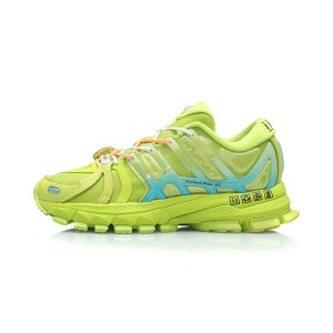 China Li-Ning 2019 New York Fashion Week Show Style Furious Rider ACE 1.5 Men's Stable Running Shoes - Green/Blue