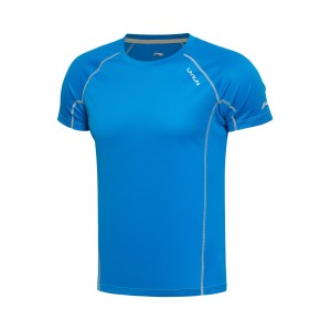 Li-Ning 2017 Men's Running T-Shirt Short Sleeve AT DRY Breathable Sports Tee