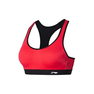 2018 New Li-Ning Professional Women's High Support Sports Bra - Red [AUBN032-3]
