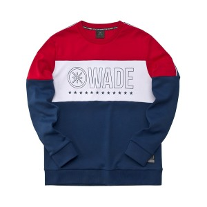 2019 Spring New Way of Wade Men's Hoodie - Red/Blue [AWDP219-2]