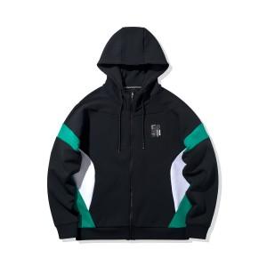 2020 New Way of Wade Men's Fashion full-zip loose Hoodie - Black/Green/White