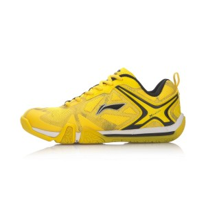 Women's TD Professional Badminton Shoes - Yellow [AYAL026-1]