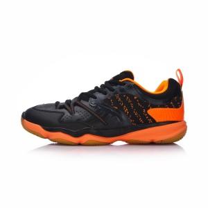 2018 Li-Ning Ranger TD Men's Badminton Training Shoes - Black/Orange [AYTM081-2]