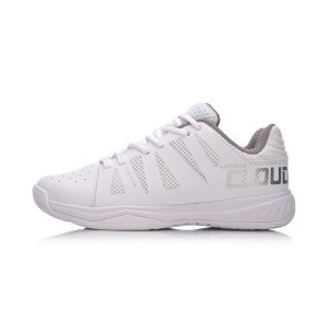 Li-Ning 2018 New Dual Cloud Women's Cloud Cushioning Badminton Training Shoes - White [AYTN006-2]