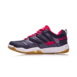 Li-Ning 2018 New Women's Xtructure Badminton Training Shoes - Purple/Red [AYTN042-3]
