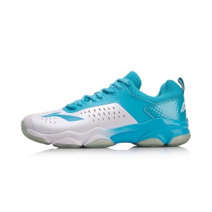 Li-Ning 2018 Sonic Boom Men's Cushioning Professional Badminton Shoes - White/Blue [AYZN009-7]