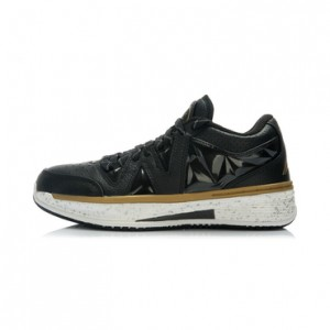 "Li-Ning Way of Wade 2 Low ""Black Gold"" Professional Basketball Shoes"