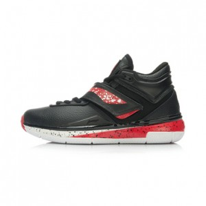 Li Ning WoW 3.0 Wade 808 professional men's basketball game shoes-Black/White/Red