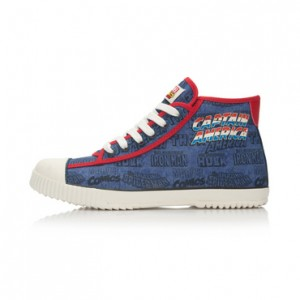 Captain America x Li-Ning Mens Classic Mid Canvas Shoes