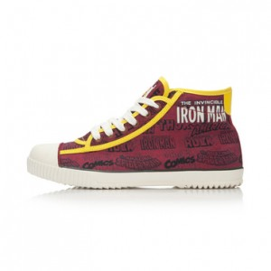 Iron Man x Li-Ning Mens Classic Mid Canvas Shoes