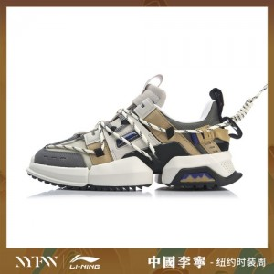 China Li-Ning 2019 New York Fashion Week UT ACE men's shoes Pangu - White/Grey