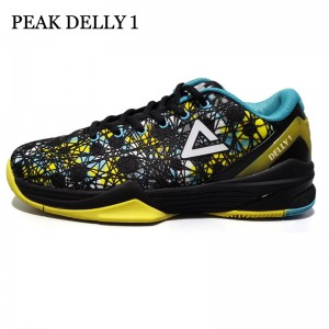 Peak Delly1 Basketball Shoes - Blue/Yellow/Black
