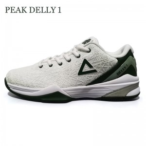 Peak Delly1 Basketball Shoes - White/Green