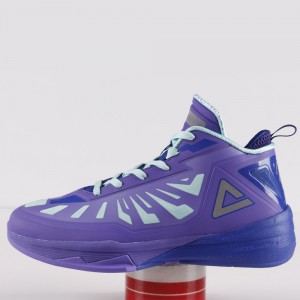 Peak Team Lightning 3 III Professional Basketball Shoes - Purple