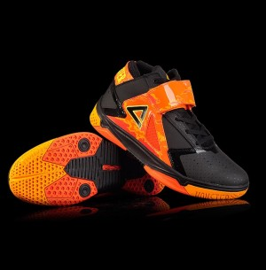 Peak 2016 Spring Monster 3.4 Professional Basketball Shoes - Black/Fire Orange