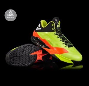 Peak 2016 Spring New Lightning IV Professional Basketball Shoes - Green/Black