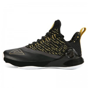 Peak 2018 Tony Parker 6 VI Men's Professional Basketball Shoes - Black/Gold