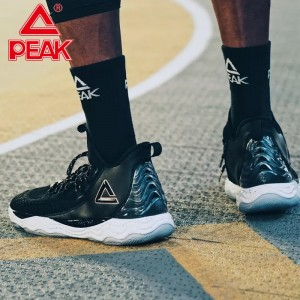 PEAK Dwight Howard DH4 Professional Basketball Sneakers - Black/White